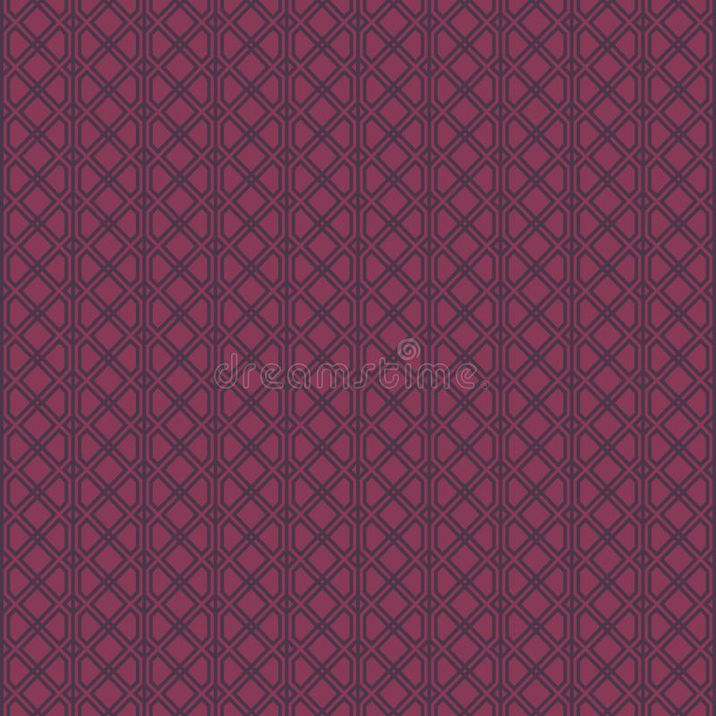 Abstract geometric pattern with lines. A seamless background. Graphic modern pattern in dark and light violet color style vector illustration