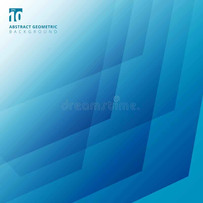 Abstract geometric pattern overlay white and blue color background. Vector illustration royalty free illustration
