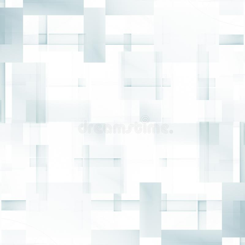 Abstract geometric pattern with pale rectangles. Simple raster graphics royalty free illustration