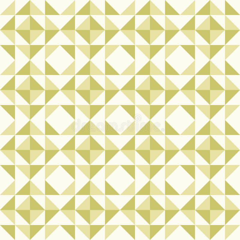 Abstract geometric pattern, patchwork quilting. Regular geometric pattern inspired by traditional patchwork duvet quilting. Only 3 colors - easy to recolor vector illustration