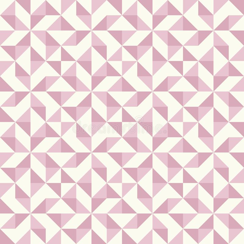 Abstract geometric pattern, patchwork quilting stock illustration