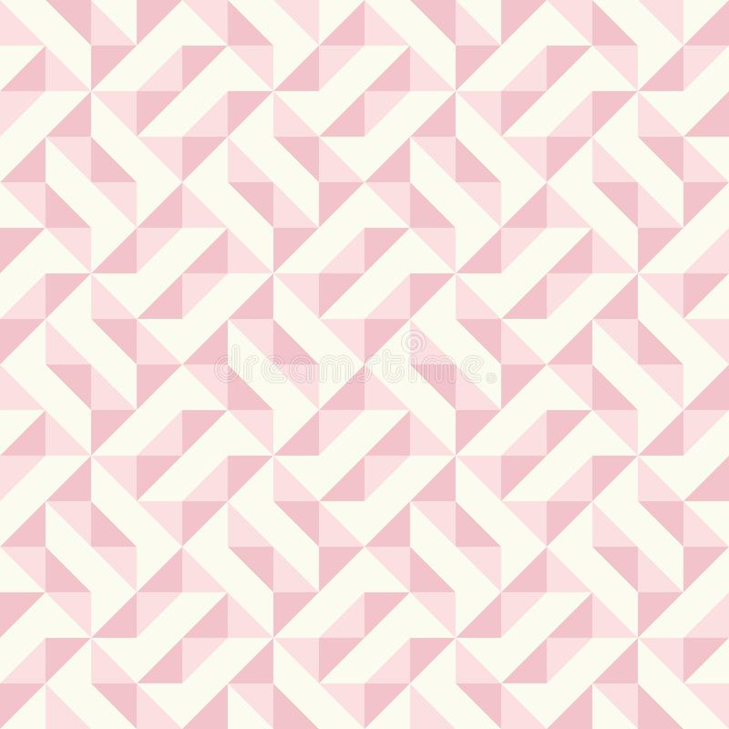Abstract geometric pattern, patchwork quilting. Regular geometric pattern inspired by traditional patchwork duvet quilting. Only 3 colors - easy to recolor stock illustration