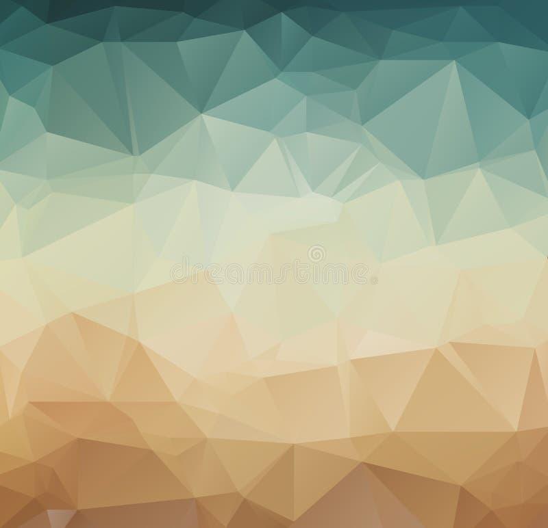 Abstract geometric pattern retro background stock illustration