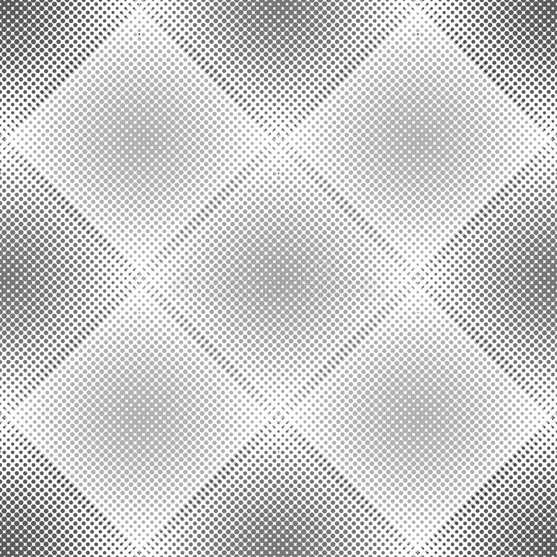 Abstract geometric pattern with rhombuses. Repeating seamless vector background. Gray and white ornament. vector illustration