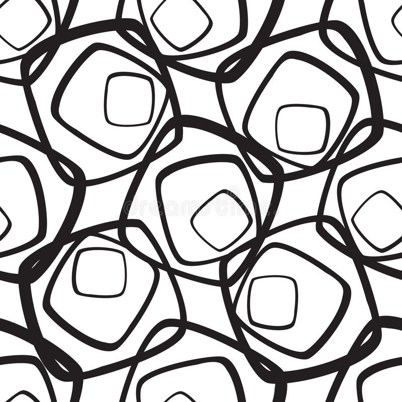 Abstract geometric pattern. A seamless background. Black and white texture. royalty free illustration