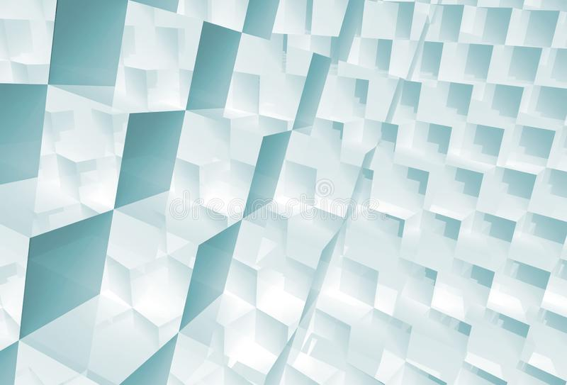 Abstract geometric pattern, shiny cubes 3 d royalty free stock image