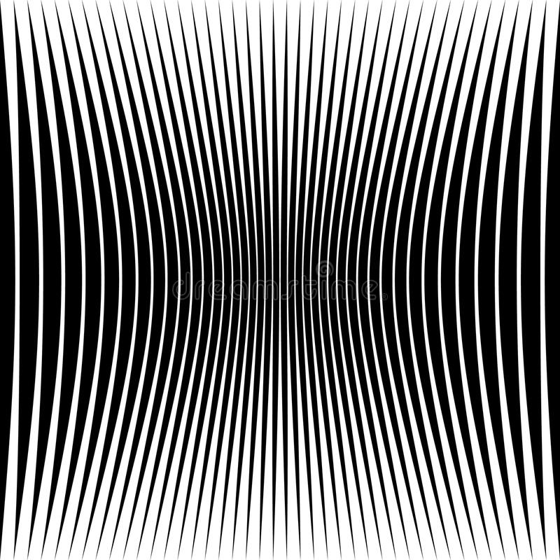 Abstract geometric pattern with squeezed-compressed distortion e royalty free illustration