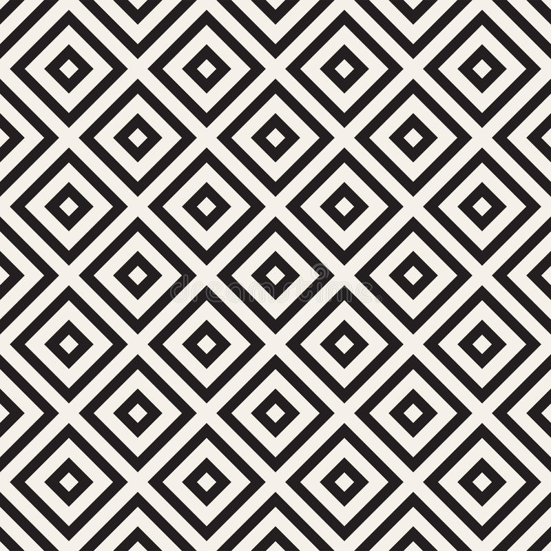 Abstract geometric pattern with stripes, lines. Seamless vector ackground. Black and white lattice texture. Abstract geometric pattern with stripes, lines royalty free illustration