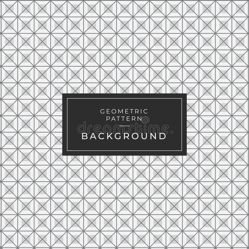 Abstract geometric pattern with stripes, lines. A seamless vector background. Black and white texture stock illustration