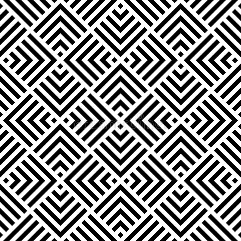 Abstract geometric pattern by stripes. royalty free stock photography