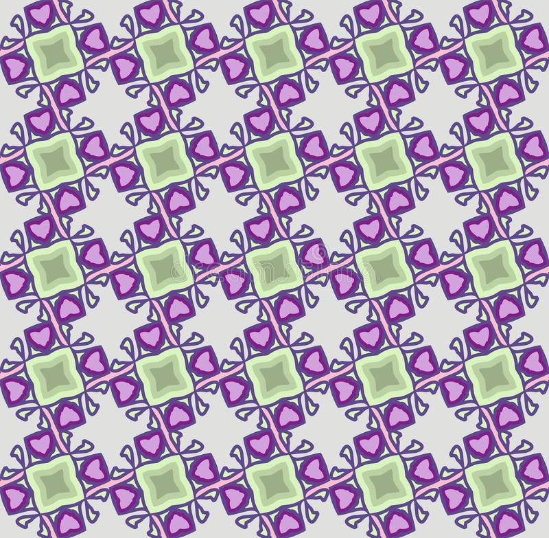 abstract geometric pattern, vector seamless from abstract forms in ngreen and violet tones royalty free illustration