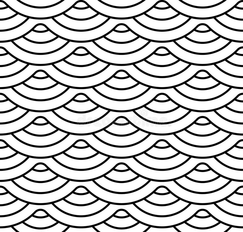 Abstract geometric pattern with wavy lines, stripes. A seamless vector background. Beige and white ornament.  vector illustration