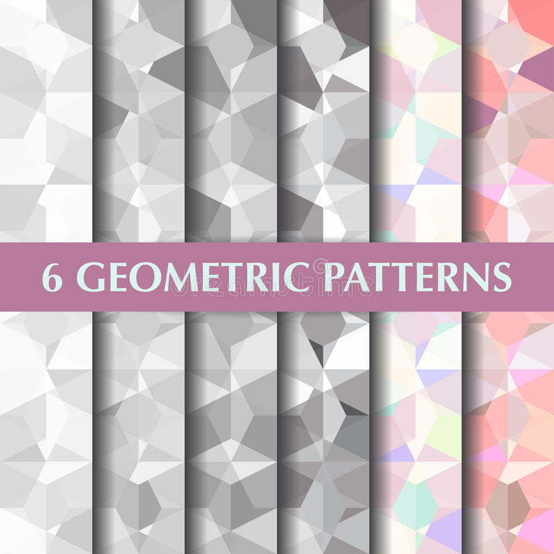 Abstract geometric polygon pattern. Vector background eps 10 stock illustration