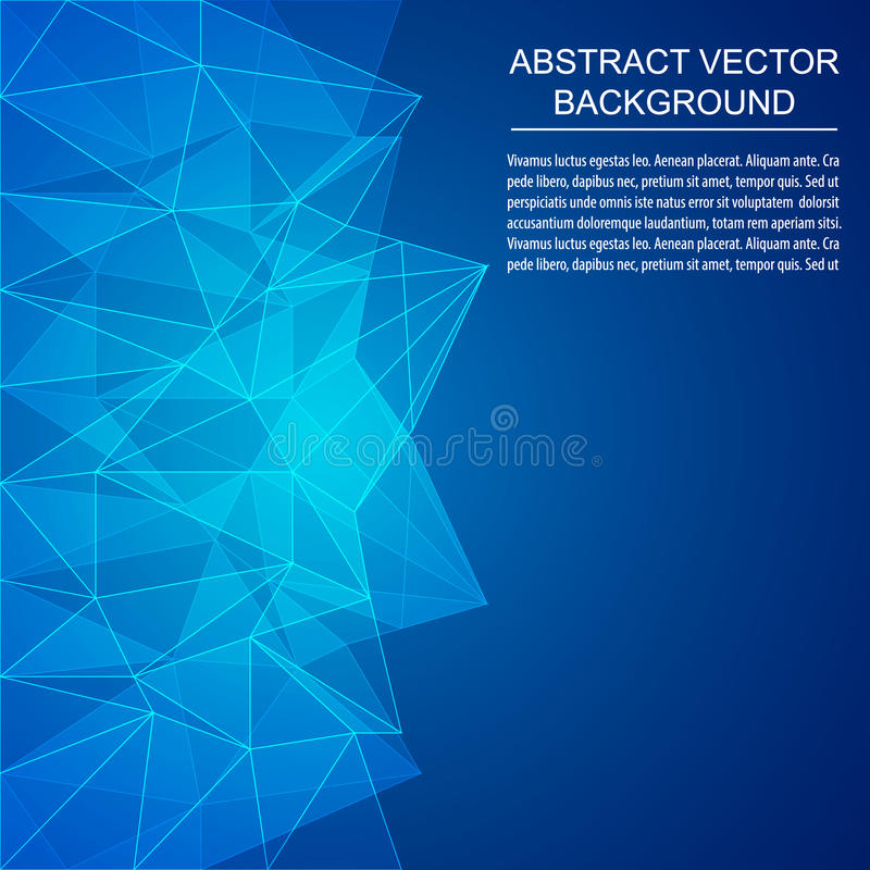 Abstract geometric polygonal background. Design with place for your content, print, publishing vector illustration