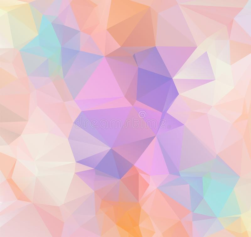 Abstract Geometric polygonal background - triangle low poly pattern - full color spectrum rainbow royalty free illustration