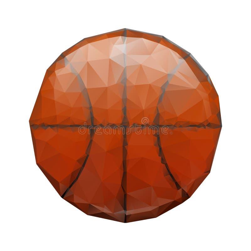 Download Abstract Geometric Polygonal Basketball Stock Vector