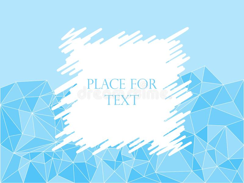 Abstract geometric polygonal texture mosaic, blue, Triangles. Hatching, space for text. Vector illustration. Background vector illustration
