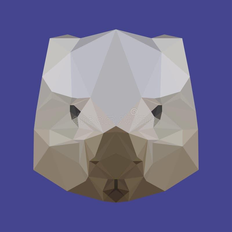 Collection Of Monochrome Flat Design Book Logo: Wombat Head Sketch Vector Graphics Monochrome Stock Vector