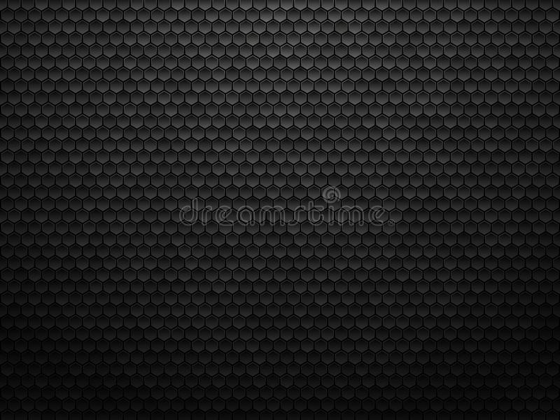 Abstract geometric polygons background, black metallic texture stock illustration