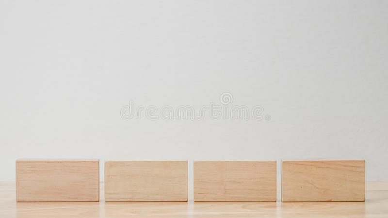 Abstract geometric real wooden cube with surreal layout on white background stock images