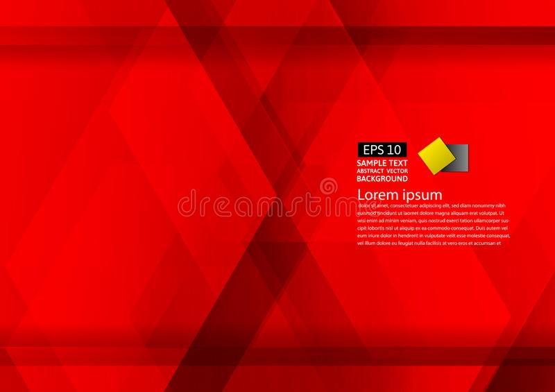 Abstract geometric red background modern design eps10 with copy space , Vector illustration.  royalty free illustration