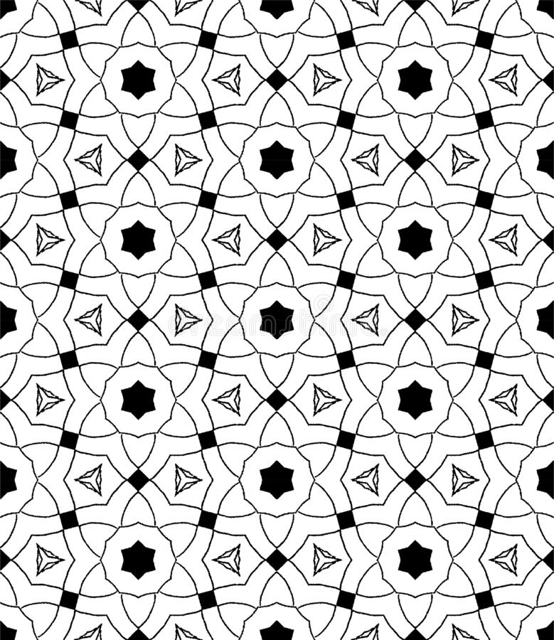 Abstract geometric repeating pattern in vector format stock illustration