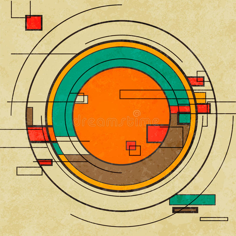 Free Abstract Geometric Retro Colourful Background Stock Photography - 41108632
