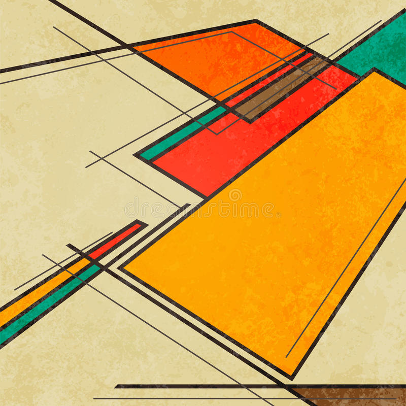 Free Abstract Geometric Retro Colourful Background Stock Photo - 41108910