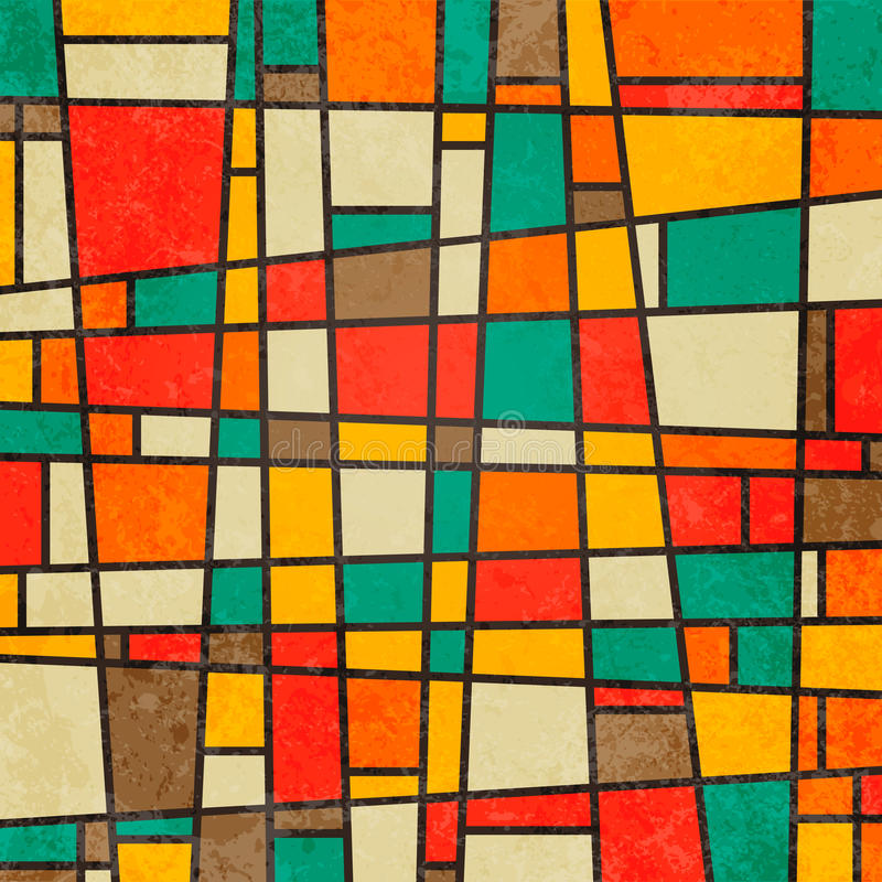 Abstract geometric retro colourful background royalty free illustration