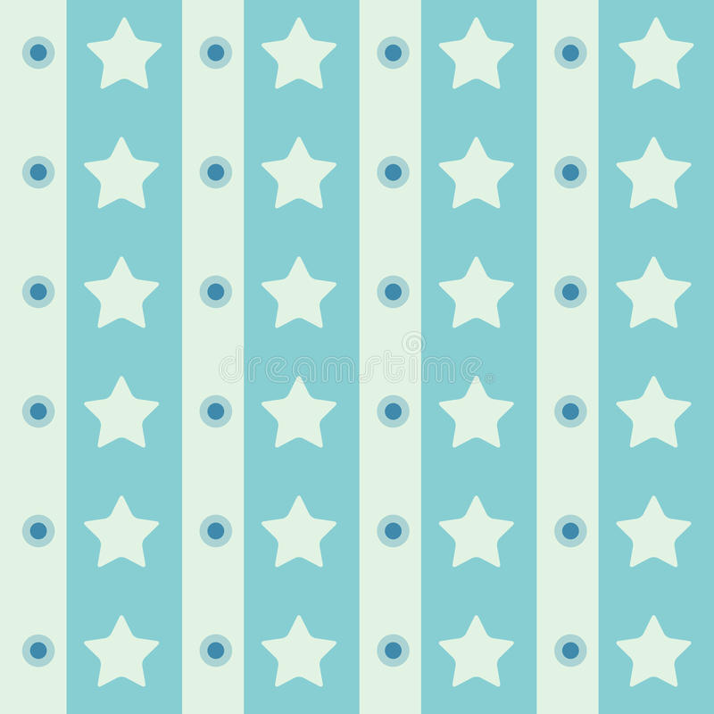 Abstract geometric retro seamless polka star background. Vector illustration. royalty free stock photography