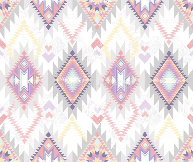 Abstract geometric seamless aztec pattern vector illustration