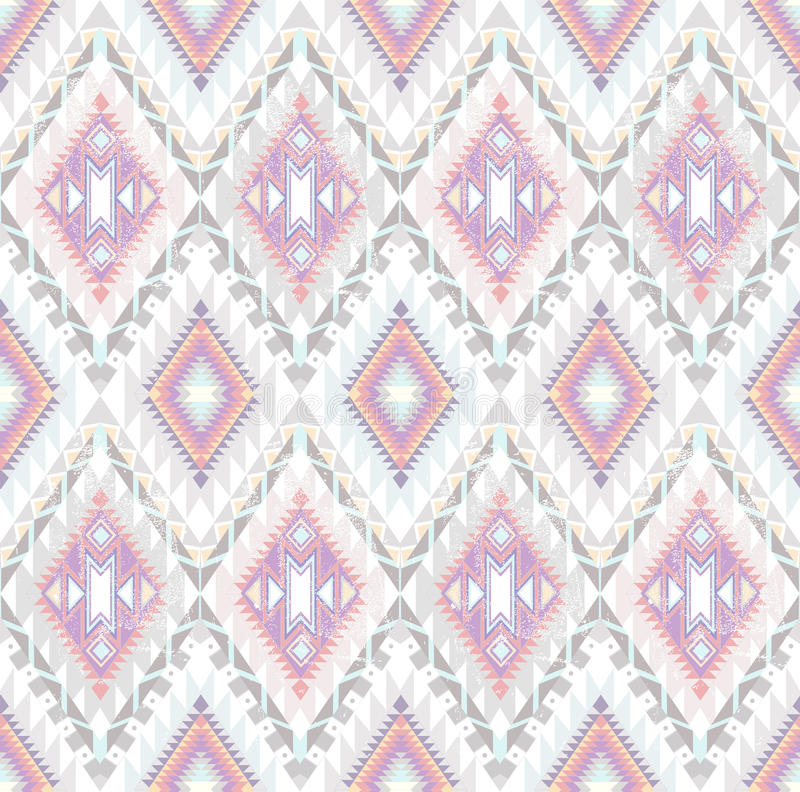 Abstract Geometric Seamless Aztec Pattern Royalty Free Stock Images