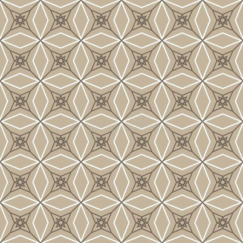 Abstract geometric seamless brown outline pattern royalty free stock photography