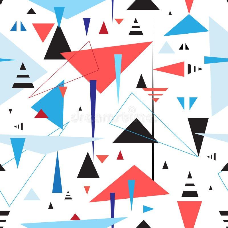 Abstract geometric seamless pattern royalty free illustration