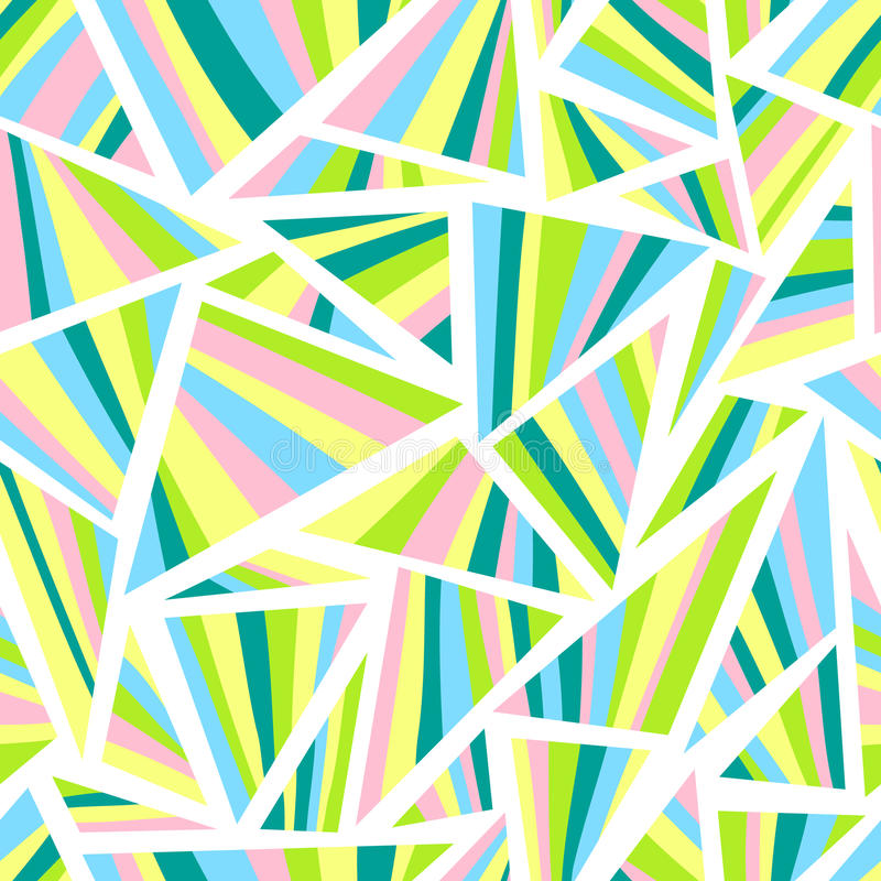 Abstract geometric seamless pattern. Background with triangles. Vector illustration stock illustration