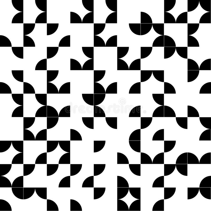 Abstract geometric seamless pattern with black stock illustration