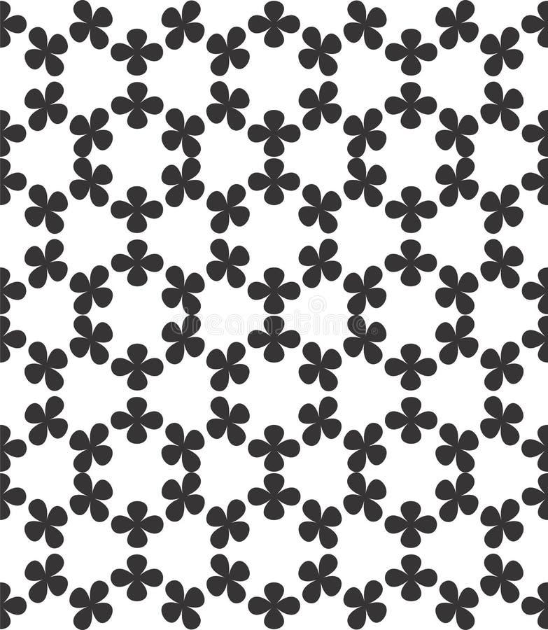 Abstract geometric seamless pattern. Black and white minimalist monochrome watercolor artwork. stock illustration