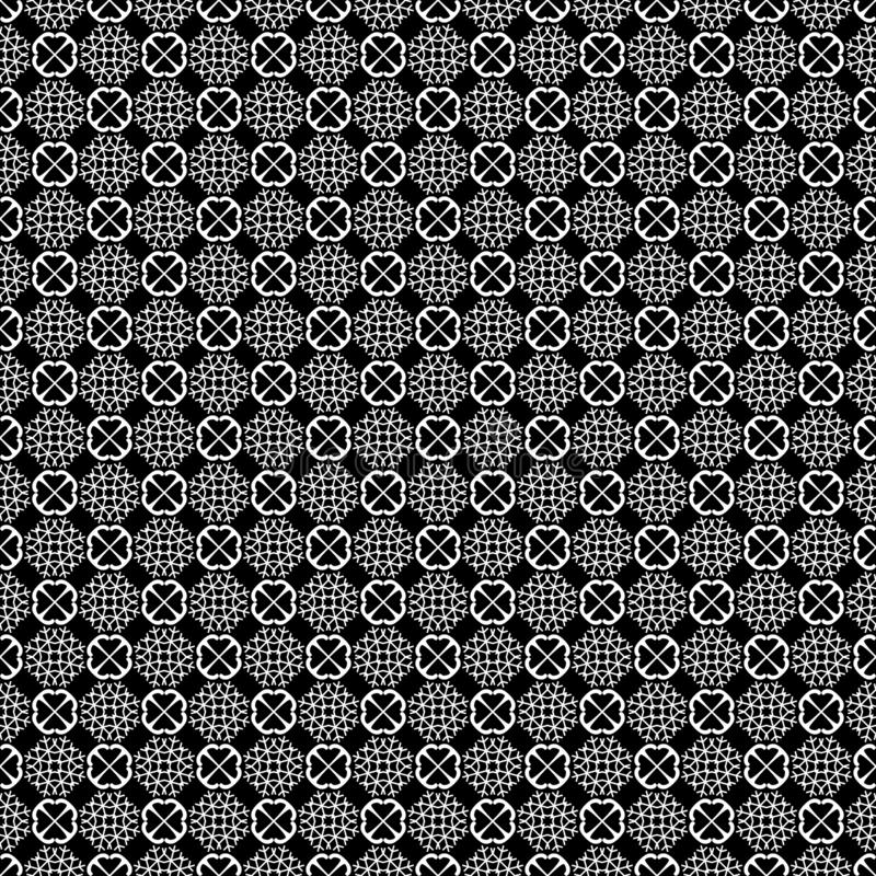 Abstract black and white repeated design pattern vector illustrations stock image
