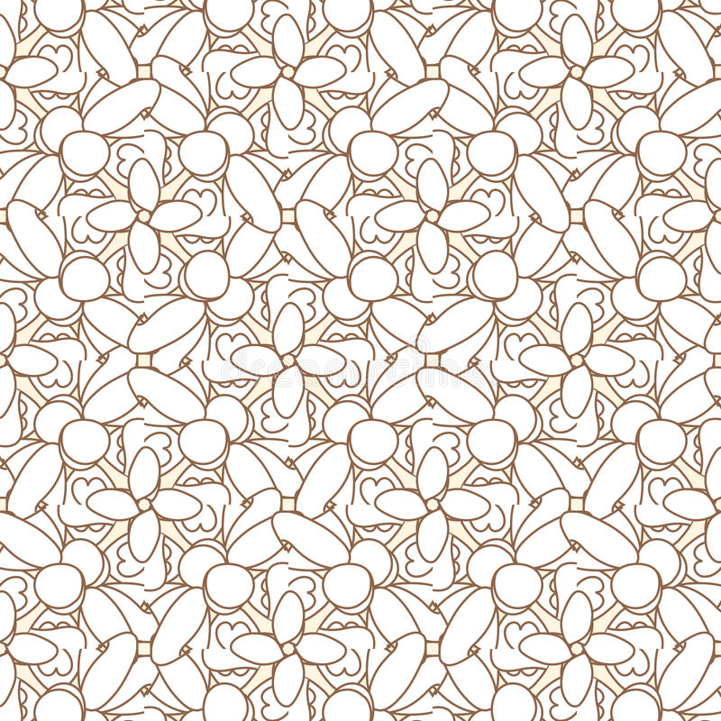 Abstract geometric seamless pattern. Brown and white pattern with line. vector illustration