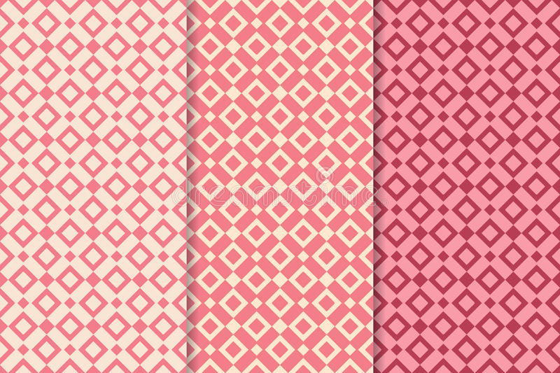 Abstract geometric seamless pattern. Colored background vector illustration
