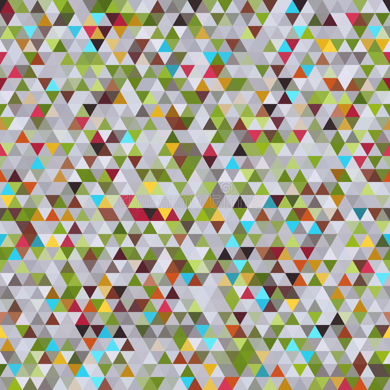 Abstract Geometric Seamless Pattern of Colored Triangles. royalty free illustration