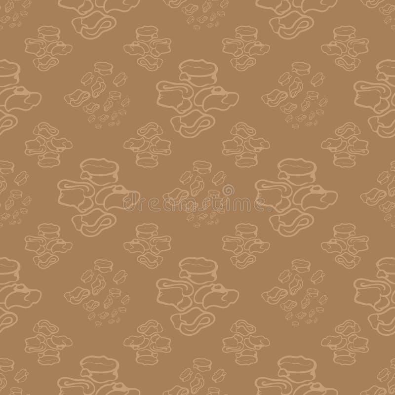 Abstract geometric seamless pattern stock illustration