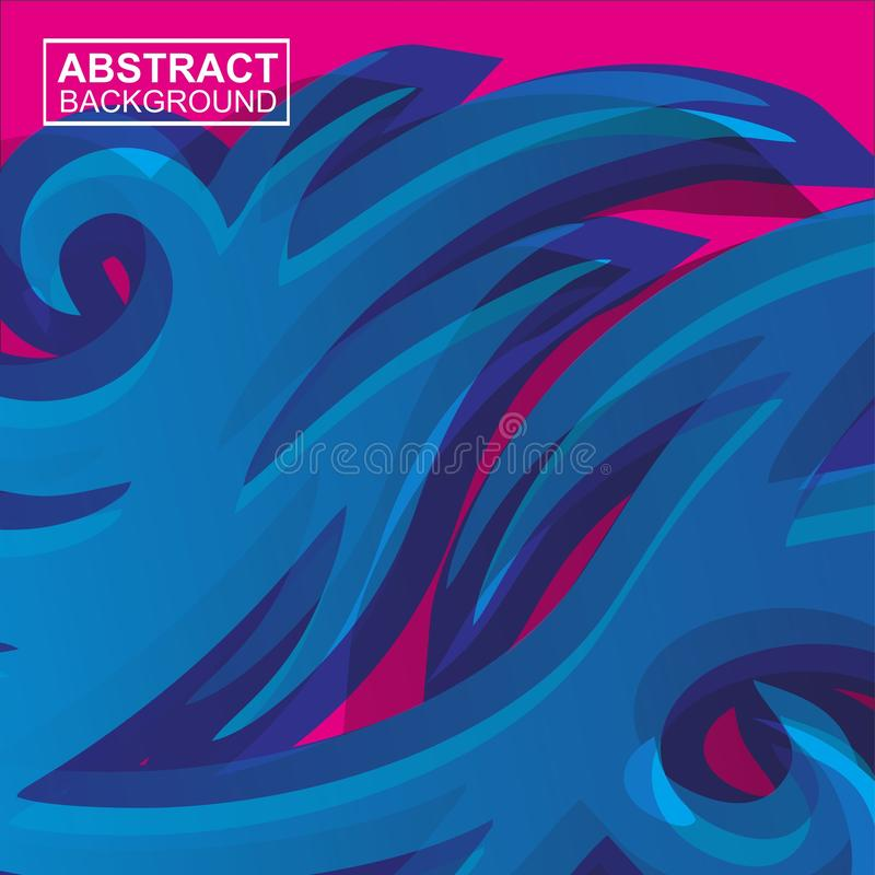 Abstract geometric seamless pattern. Graphic vector. Racing background for vinyl wrap and decal. pink and blue colour - Vector royalty free illustration