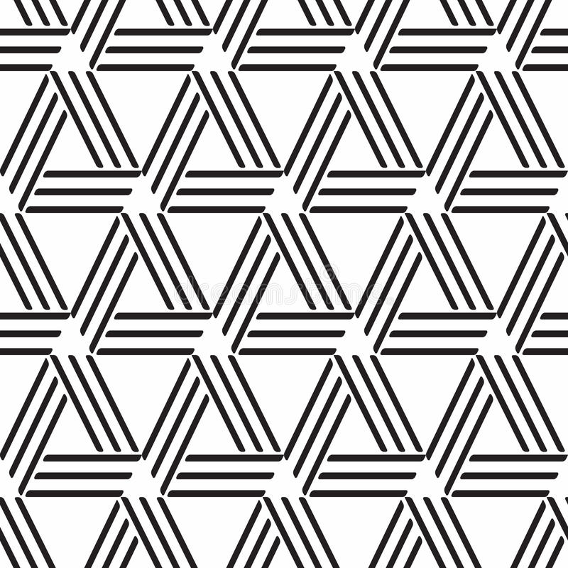 Abstract geometric seamless pattern. Abstract geometric monochrome seamless pattern - illustration stock illustration
