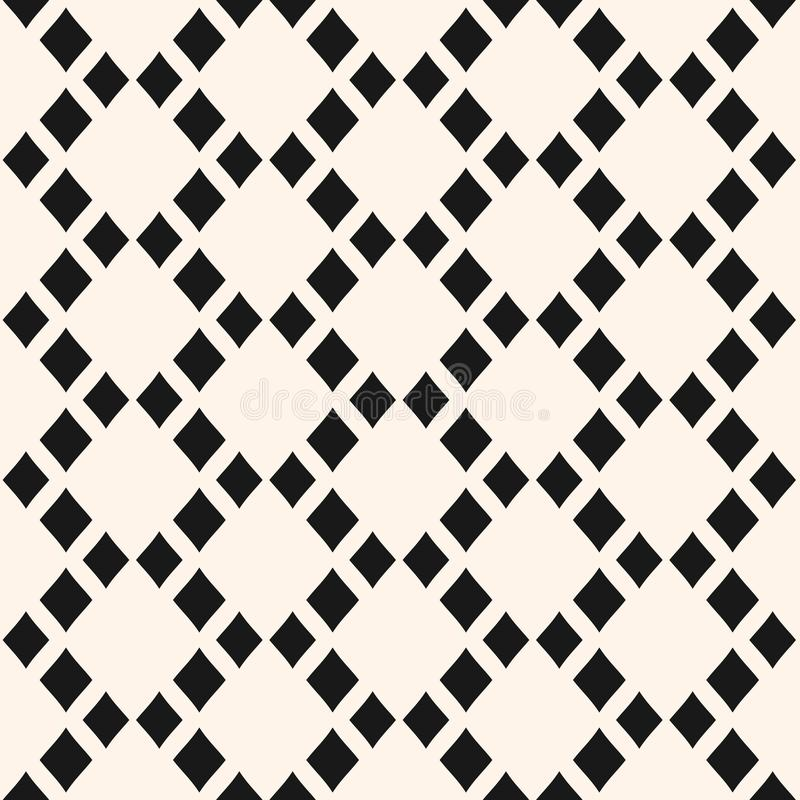 Vector abstract geometric seamless pattern with rhombuses in staggered grid. Argyle pattern. stock illustration