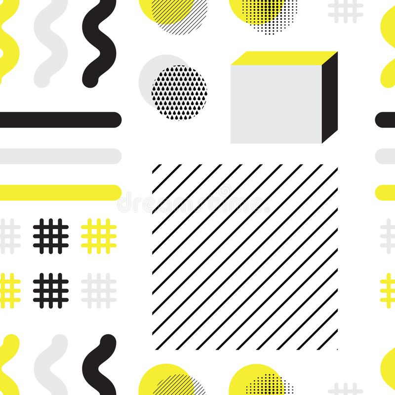 Abstract geometric seamless pattern with simple shapes royalty free illustration