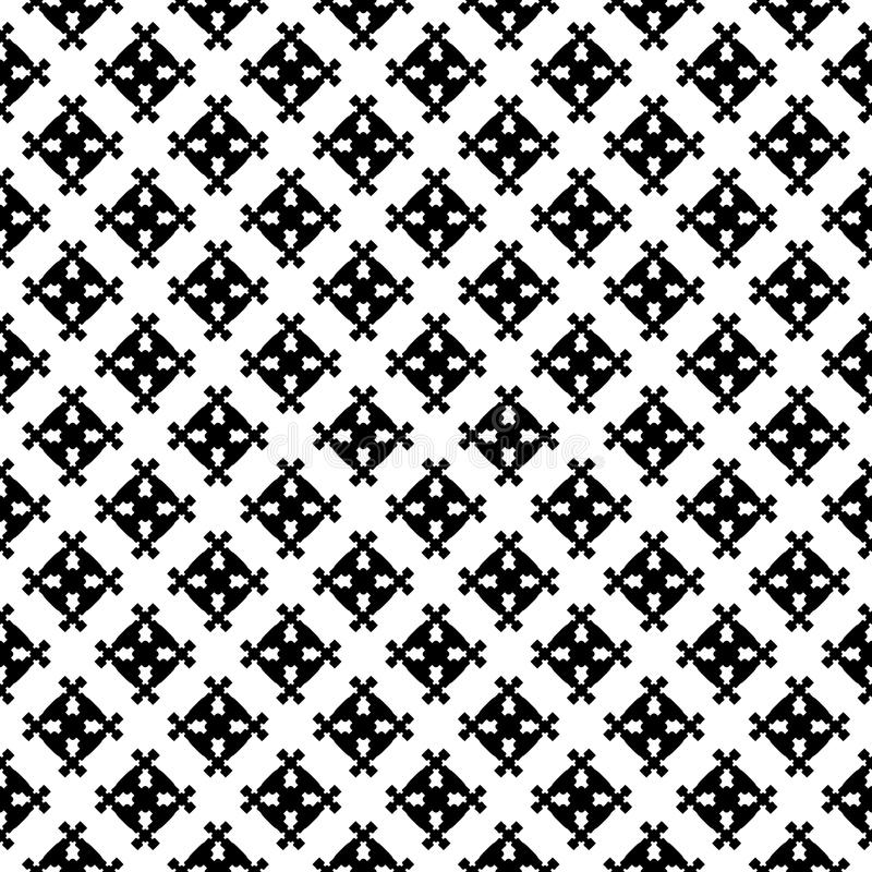 Abstract geometric seamless pattern, square figures. Vector monochrome texture, abstract geometric seamless pattern with simple square figures, crossing stock illustration