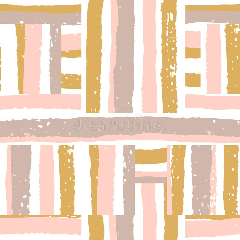 Abstract geometric seamless pattern with stripes. Vector template stock illustration