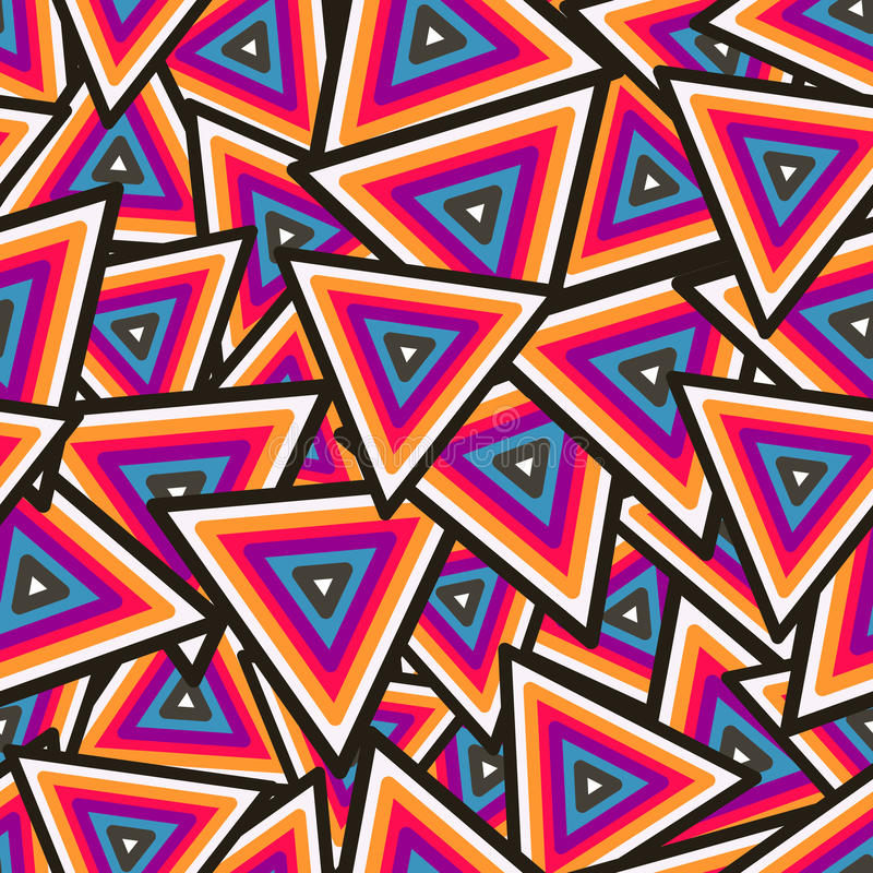 Abstract Geometric Seamless Pattern. Vector royalty free illustration