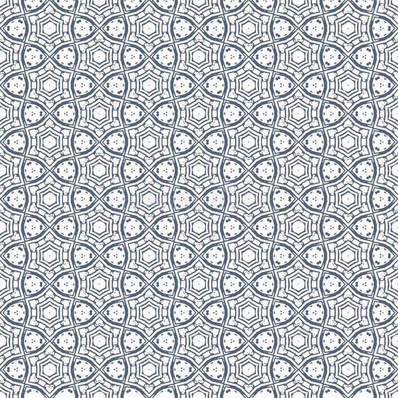 Abstract geometric repeating pattern in vector format royalty free illustration